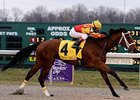 "Maren's Meadow runs away with the Bourbonette Oaks Stakes at Turfway Park.<br><a target=""blank"" href=""http://www.bloodhorse.com/horse-racing/photo-store?ref=http%3A%2F%2Fpictopia.com%2Fperl%2Fgal%3Fprovider_id%3D368%26ptp_photo_id%3D3939598%26ref%3Dstory"">Order This Photo</a>"
