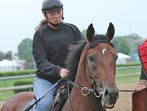 Big Brown on track at Churchill Downs May 7.