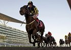 Krypton Factor dominates the Mahab Al Shimaal at Meydan Racecourse.
