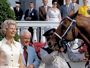 Secretariat in the Kentucky Derby Winner's Circle