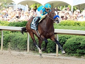 Bodemeister wins the 2012 Arkansas Derby.