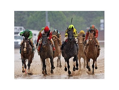 "Aubby K leaves them behind in the Humana Distaff. <br><a target=""blank"" href=""http://photos.bloodhorse.com/AtTheRaces-1/at-the-races-2013/27257665_QgCqdh#!i=2492838193&k=fVdkzfB"">Order This Photo</a>"