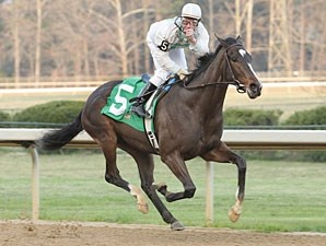 Rachel Alexandra wins the Martha Washington Stakes
