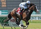 "Courageous Cat pulls away to win the Poker.<br><a target=""blank"" href=""http://www.bloodhorse.com/horse-racing/photo-store?ref=http%3A%2F%2Fpictopia.com%2Fperl%2Fgal%3Fprovider_id%3D368%26ptp_photo_id%3D9561132%26ref%3Dstory"">Order This Photo</a>"