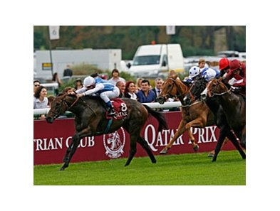 Goldikova leads the way in the Qatar Prix de la Foret.