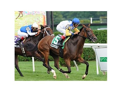 "Perfect Shirl comes home strong to win the Lake George.<br><a target=""blank"" href=""http://www.bloodhorse.com/horse-racing/photo-store?ref=http%3A%2F%2Fpictopia.com%2Fperl%2Fgal%3Fprovider_id%3D368%26ptp_photo_id%3D9120470%26ref%3Dstory"">Order This Photo</a>"