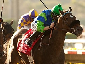 Include Me Out wins the 2012 Clement Hirsch.