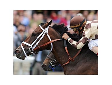 "Embur's Song goes gate-to-wire to win the Doubledogdare at Keeneland.<br><a target=""blank"" href=""http://www.bloodhorse.com/horse-racing/photo-store?ref=http%3A%2F%2Fpictopia.com%2Fperl%2Fgal%3Fprovider_id%3D368%26ptp_photo_id%3D9500478%26ref%3Dstory"">Order This Photo</a>"