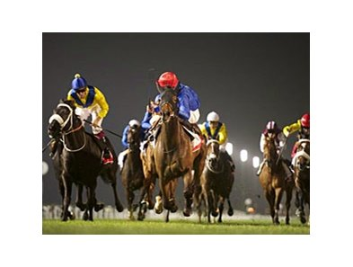 Sajjhaa comes on late to win the Jebel Hatta.