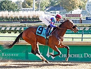Canaryinacoalmine breaks her maiden at Churchill Downs.