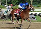 "Questing defeated Zo Impressive by 4 1/4 lengths in the TVG Coaching Club American Oaks.<br><a target=""blank"" href=""http://photos.bloodhorse.com/AtTheRaces-1/at-the-races-2012/22274956_jFd5jM#!i=1979122731&k=z9tNkj7"">Order This Photo</a>"