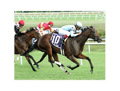 I Lost My Choo won the Virginia Oaks (gr. IIIT) at Colonial Downs.
