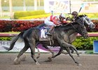 "Hymn Book (#10) outfights Mission Impazible to win the Donn.<br><a target=""blank"" href=""http://www.bloodhorse.com/horse-racing/photo-store?ref=http%3A%2F%2Fpictopia.com%2Fperl%2Fgal%3Fprovider_id%3D368%26ptp_photo_id%3D9812051%26ref%3Dstory"">Order This Photo</a>"