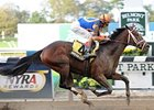 Overanalyze wins the Futurity Stakes.