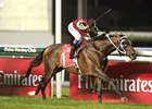 Mikhail Glinka streaks home in the Dubai City of Gold.
