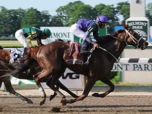 Bribon Uses Late Kick to Score Met Mile Win