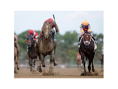 "Flat Out (left) wears down Stay Thirsty to win the Jockey Club Gold Cup again.<br><a target=""blank"" href=""http://photos.bloodhorse.com/AtTheRaces-1/at-the-races-2012/22274956_jFd5jM#!i=2117889579&k=RTGdNcQ"">Order This Photo</a>"