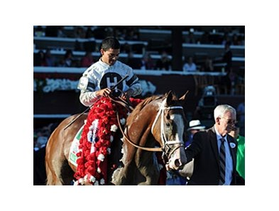 "Travers winner Will Take Charge<br><a target=""blank"" href=""http://photos.bloodhorse.com/AtTheRaces-1/at-the-races-2013/27257665_QgCqdh#!i=2722883342&k=fBmrQ72"">Order This Photo</a>"