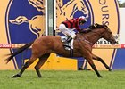 Weekend Hussler won Autralia's group I Oakleigh Plate by a widening two lengths.