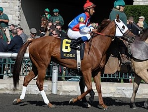 Groupie Doll wins the 2012 Thoroughbred Club of America Stakes.