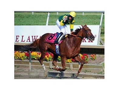 "Hystericalady romps in the $1 million Delaware Handicap (gr. II). <br><a target=""blank"" href=""http://www.bloodhorse.com/horse-racing/photo-store?ref=http%3A%2F%2Fpictopia.com%2Fperl%2Fgal%3Fprovider_id%3D368%26ptp_photo_id%3D5118867%26ref%3Dstory"">Order This Photo</a>"