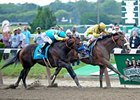 Union Rags winning the Belmont Stakes.