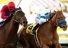 Home Sweet Aspen fights off Sugarinthemorning to win the Santa Monica Stakes.