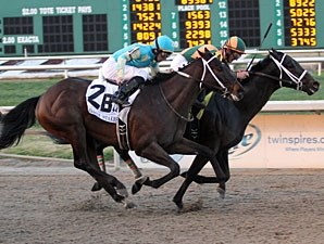 Mr. Bowling wins the 2012 Lecomte Stakes.
