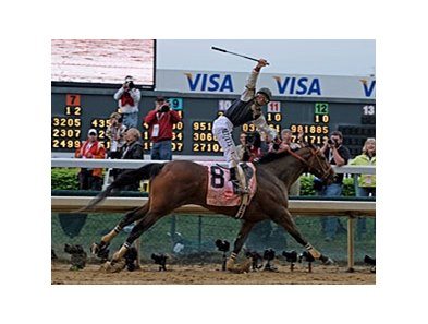 "Mine That Bird was the second consecutive Kentucky Derby winner to sell at the Fasig-Tipton October Yearling Sale. <br><a target=""blank"" href=""http://www.bloodhorse.com/horse-racing/photo-store?ref=http%3A%2F%2Fgallery.pictopia.com%2Fbloodhorse%2Fgallery%2FS719439%2Fphoto%2F8063918%2F%3Fo%3D6"">Order This Photo</a>"