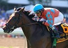 Laughing won the Matchmaker Stakes at Monmouth Park July 29 by one length.