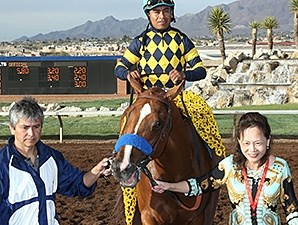 Chitu wins the Sunland Derby at Sunland Park.