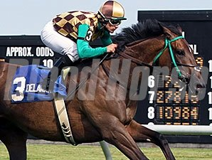 Hardest Core wins the 2014 Cape Henlopen Stakes.