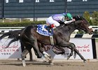 "J J's Lucky Train catches Vengeful Wildcat to win the Bay Shore Stakes.<br><a target=""blank"" href=""http://www.bloodhorse.com/horse-racing/photo-store?ref=http%3A%2F%2Fpictopia.com%2Fperl%2Fgal%3Fprovider_id%3D368%26ptp_photo_id%3D9484132%26ref%3Dstory"">Order This Photo</a>"