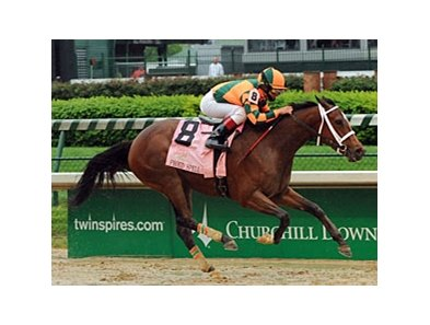 "Kentucky Oaks (gr. I) winner Proud Spell will face just three foes in the Mother Goose (gr. I). <br><a target=""blank"" href=""http://www.bloodhorse.com/horse-racing/photo-store?ref=http%3A%2F%2Fpictopia.com%2Fperl%2Fgal%3Fprovider_id%3D368%26ptp_photo_id%3D4378418%0D%0A%26ref%3Dstory"">Order This Photo</a>"