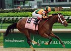 "Proud Spell draws off in the 2008 Kentucky Oaks.<br><a target=""blank"" href=""http://www.bloodhorse.com/horse-racing/photo-store?ref=http%3A%2F%2Fpictopia.com%2Fperl%2Fgal%3Fprovider_id%3D368%26ptp_photo_id%3D4378418%26ref%3Dstory"">Order This Photo</a>"