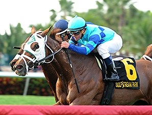 Baffle Me wins the South Beach Stakes.