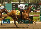 Spenditallbaby was one of several upset winners on the April 27 Cal Gold Rush card at Hollywood Park.