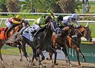 "Drosselmeyer (far right) takes on 6 in the Dwyer at Belmont.<br><a target=""blank"" href=""http://www.bloodhorse.com/horse-racing/photo-store?ref=http%3A%2F%2Fpictopia.com%2Fperl%2Fgal%3Fprovider_id%3D368%26ptp_photo_id%3D8864068%26ref%3Dstory"">Order This Photo</a>"