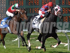 Bold Chieftain wins the Bay Meadows Handicap.