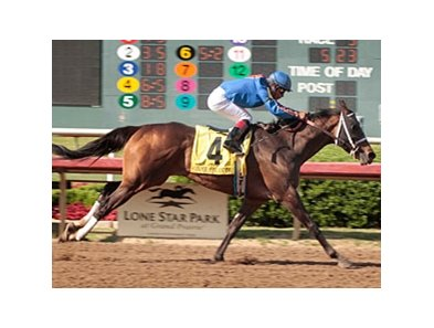Game On Dude won the 2010 Lone Star Derby at Lone Star Park.