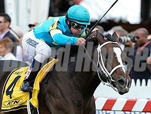Wallyanna wins the 2014 James W. Murphy Stakes.
