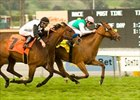 Costume holds on to win the Buena Vista, Feb. 18 at Santa Anita.