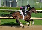 Close Hatches works towards the Kentucky Oaks 4/28/2013.
