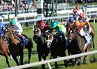 "Moonwalk (rail) holds off Kitten's Point (white silks, left) to win the Jessamine Stakes.<br><a target=""blank"" href=""http://photos.bloodhorse.com/AtTheRaces-1/at-the-races-2012/22274956_jFd5jM#!i=2143705022&k=BbCgmQs"">Order This Photo</a>"