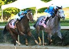 On Fire Baby and Joe Johnson take the Apple Blossom at Oaklawn.