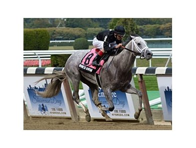 "Wired Bryan rolls to victory in the Bertram F. Bongard Stakes.<br><a target=""blank"" href=""http://photos.bloodhorse.com/AtTheRaces-1/at-the-races-2013/27257665_QgCqdh#!i=2844181292&k=dTRfJS2"">Order This Photo</a>"