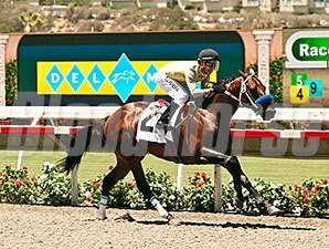 Hawk's Eyes wins a claiming race at Del Mar on July 17, 2014.