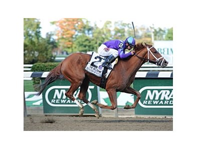 "Princess of Sylmar won the 2013 Beldame. <br><a target=""blank"" href=""http://photos.bloodhorse.com/AtTheRaces-1/at-the-races-2013/27257665_QgCqdh#!i=2796912189&k=5Z4TVdV"">Order This Photo</a>"