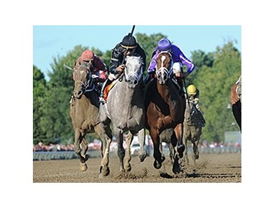 "Corfu (right) and Wired Bryan finished a nose apart in the Aug. 11 Saratoga Special Stakes.<br><a target=""blank"" href=""http://photos.bloodhorse.com/AtTheRaces-1/at-the-races-2013/27257665_QgCqdh#!i=2694243707&k=KwRvnD8"">Order This Photo</a>"