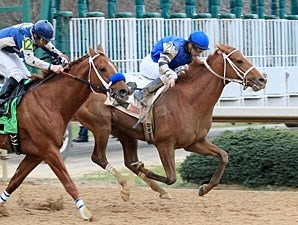 Junebugred wins the 2012 Smarty Jones.
